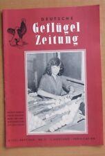 DDR Deutsche Geflügelzeitung  21-1958 Eier Kupieren Geflügel-Tränke Trommeltaube