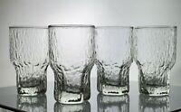 Iittala Aslak Glasses Icicle Scandinavian Crystal Tapio Wirkkala 1970s Textured