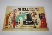 Conchiglia Targa di Latta Spirit & Motore Oils Lim. Edizione Motivo 1924 20x30