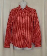 13 - 14 LEE Shirt Red Plaid Button Long Sleeve Womens Juniors NEW