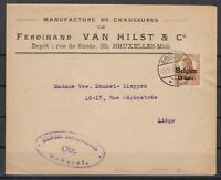 B2557/ BELGIUM GERMAN OCC – MI # 15 ON COVER