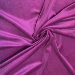 French (Orchid) 4 WAY Spandex Stretch Velvet Fabric By The Yard// Smooth Back
