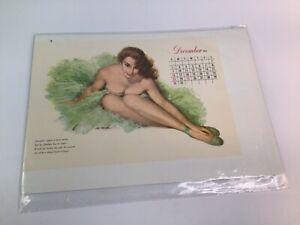 Vintage 1940's-50's PIN-UP Original calendar sexy girl art 13 of 20