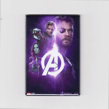 """AVENGERS INFINITY WAR / PURPLE - 2""""x3"""" MOVIE POSTER MAGNET thor guardians galaxy"""