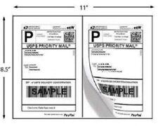 Shipping Labels 100 200 400 500 1000 Self Adhesive Half Sheet Round Corner Usps