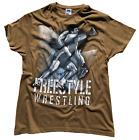 Wrestling T-Shirt Ringer T-Shirts Tee Sport Lutte Ringen FREESTYLE - Khaki