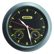 Clock Analog Hygrometer,-20 to 140 F CMOR11
