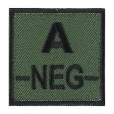 ÉCUSSON PATCH GROUPE SANGUIN A- / A NEG / A NÉGATIF avec DOS AUTO-AGRIPPANT