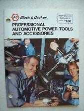 Black & Decker Professional Automotive Power Tools & Accessories Catalog 1981