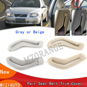Pair Selector Gate Seat Belt Trim Covers For Volvo S60 S80 V70 XC90 Left + Right