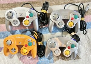 Nintendo Game Cube Controller Lot of 4  Spice Orange 3 Grey No Sticky Buttons