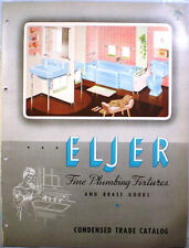 Vtg ELJER Bathroom Plumbing Fixtures RETRO Catalog Brass Goods Vitreous Sink '52