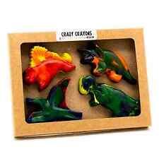 Crazy Crayons Set of 4 Dinosaur Crayons Earth Friendly Non Toxic Free Shipping