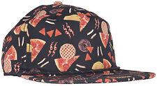 CRSHR Junk Food Print Novelty Party Rave Fun Summer Spring Break Hat Black Cap