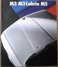Prospekt BMW E30 M3 M3 Cabrio E34 M5 2/89  Grossformat