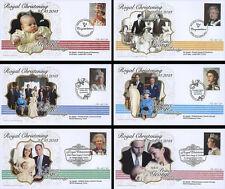 "Set 6 FDC UNITED KINGDOM ""Royal Christening Prince GEORGE / Kate & William"" 2013"