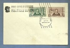 ITALIA BUSTA First Day Cover 1954 FDC MARCO POLO  ANNULLO SPECIALE FAENZA
