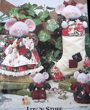 Luv N Stuff Christmas Pattern MICE mouse stocking cookie jar cover ups