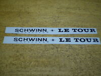 Schwinn Approved Black Le Tour Bicycle Down Tube Decal Set