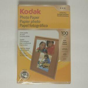 "Kodak Photo Paper 4""X6"" Gloss - 100 Sheets - Instant Dry - New - Free Shipping!!"
