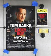 Cast Signed Tom Hanks Lucky Guy Broadway Musical Poster & Playbill & Ticket