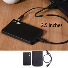 "Black USB2.0 2.5"" IDE Hard Drive Disk HD Aluminum External Case Enclosure Box"