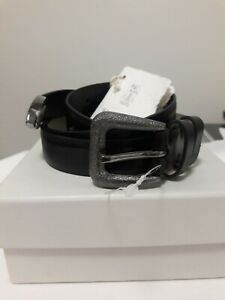 NEW 1100$ BRUNELLO CUCINELLI WOMENS LEATHER BELT SZ: S MADE IN ITALY