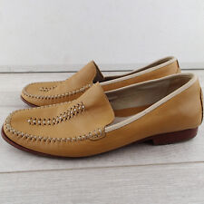 COLE HAAN Sz 7.5 B camel tan Leather Upper Slip On Pinch Toe Loafer Shoe a5
