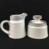VTG Lidded Sugar Bowl and Creamer Noritake Eastwind 8349 Japan