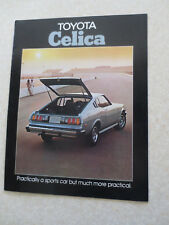 Original 1976 Toyota Celica cars advertising booklet