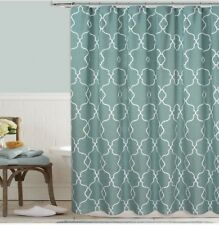 Colordrift Mandy 72-Inch x 72-Inch Embroidered Shower Curtain in Aqua