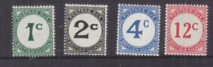BRITISH GUIANA, POSTAGE DUE, 1952-55 Chalky paper set of 4