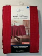 """Mainstays Fabric Tablecloth Round 70"""" Red Sedona NEW"""