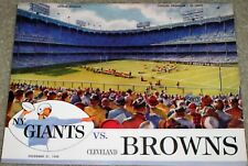 12/21/1958 New York Giants vs, Cleveland Browns Official Program at Yankee Stad.