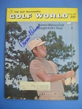HOMERO BLANCAS signed 1970 GOLF WORLD magazine AUTO HOUSTON COUGARS COLONIAL TX