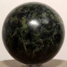 """2.3"""" Peruvian Nephrite Sphere Natural Mineral """"Inca Jade"""" Crystal Polished Stone"""