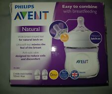 Philips Avent Natural Newborn 2 x 125ml Feeding Bottles 0m+