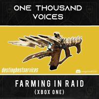 One Thousand Voices farm (3 tries per week)