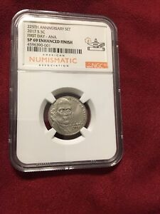 2017 S Enhanced Jefferson Nickel 225th Anniversary NGC SP69 First Day