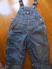 Osh Kosh Bgosh Pin Strip Bib Overalls Size 12 Months