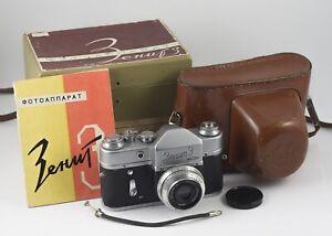 ZENIT 3 CAMERA Industar 50 F/3.5 50mm + BOX AND MANUAL