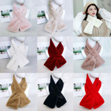 Fashion Winter Scarf Imitation Fur Collar Neck Warmer Scarves for Women Ladies