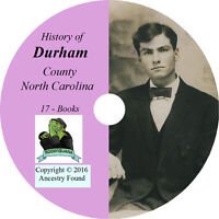 DURHAM County North Carolina NC - History Genealogy Ancestry  -17 Book CD DVD