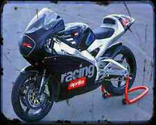 Aprilia Rs 250 Cup A4 Metal Sign Motorbike Vintage Aged