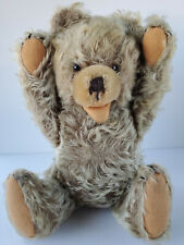 Mohair Glass Eyes Wood Wool Fully Jointed No Button Squeaker 10 Inch Teddy Bear