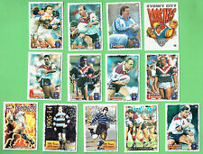1995 SERIES 2 EASTERN SUBURBS ROOSTERS  RUGBY LEAGUE CARDS