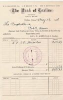 U.S. The Bank of Texline Texas 1908 A. L. Stone & Son Paid Invoice  Ref 42176