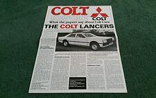 1979 1980 COLT REPORT UK FOLDER BROCHURE Lancer Celeste Mirage Hatchback Sigma