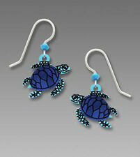 Sienna Sky Blue SEA TURTLE Earrings Sterling Silver Made in USA - Gift Boxed