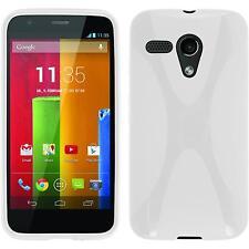 Coque en Silicone Motorola Moto G - X-Style blanc + films de protection